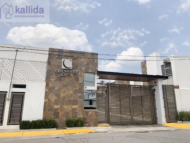 KALLIDA VENDE  INMUEBLE EN METEPEC, LOFT CON 2 RECAMARAS Y 2 BAÑOS